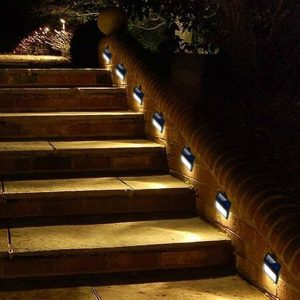 outdoor solar powered deck lights