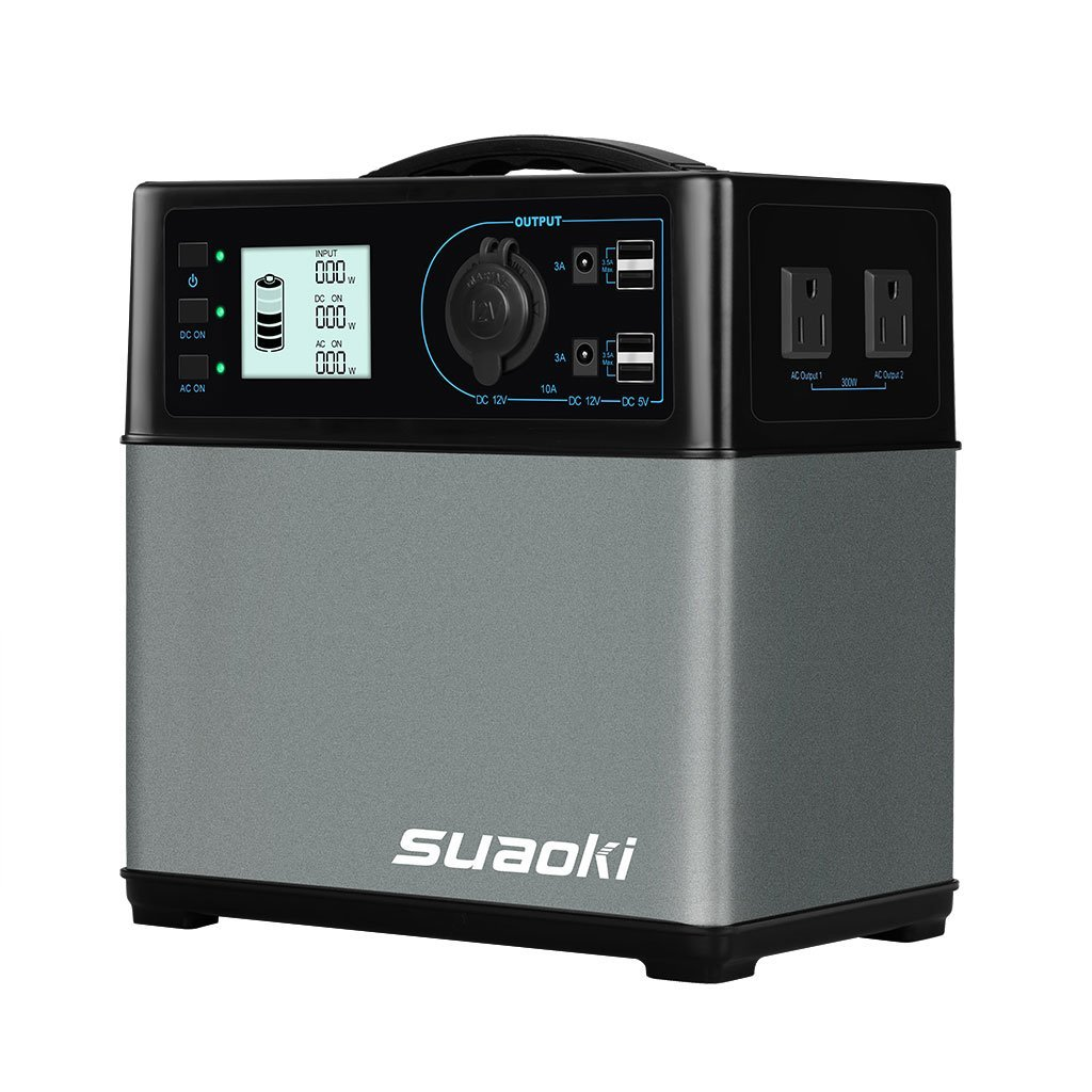 Solar Generator - Suaoki 400Wh Portable Solar Generator - Portable Solar Generator