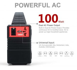 Paxcess 100W Portable Solar Generator - front