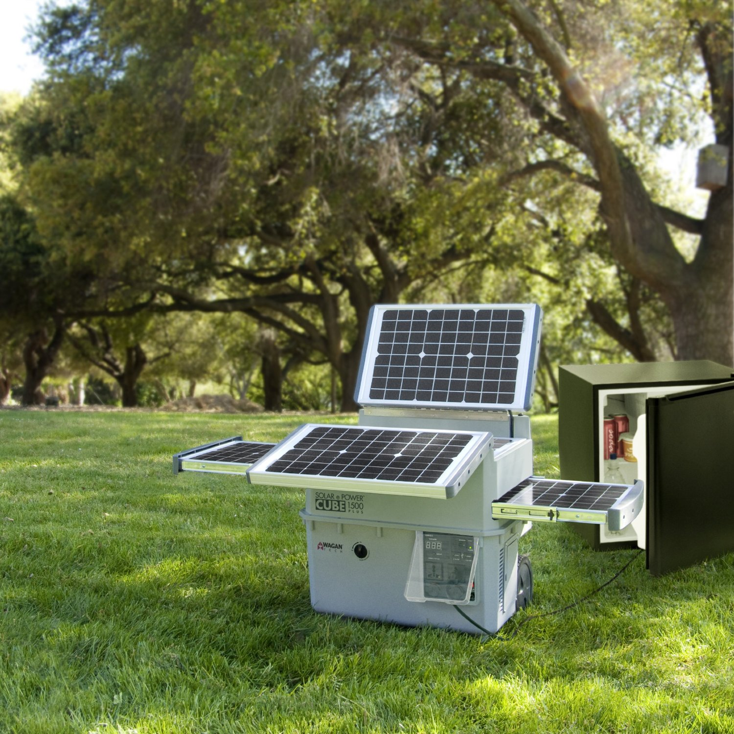 Solar Generator - Wagan Solar Power Cube 1500 Plus - Heavy Duty Solar Generator