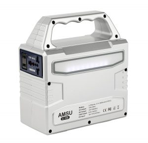 Solar Generator - Amsu-100W-Portable-Solar-Generator - outputs