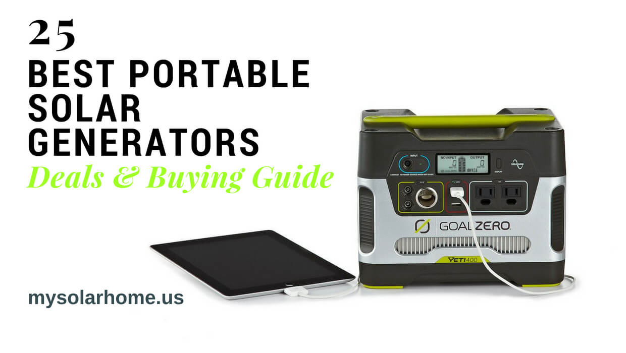 25 Best Portable Solar Generators : Buying Guide with