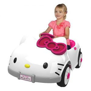 hello kitty girls electric toy car