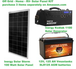Off Grid Solar Kit (Large) for Home RV