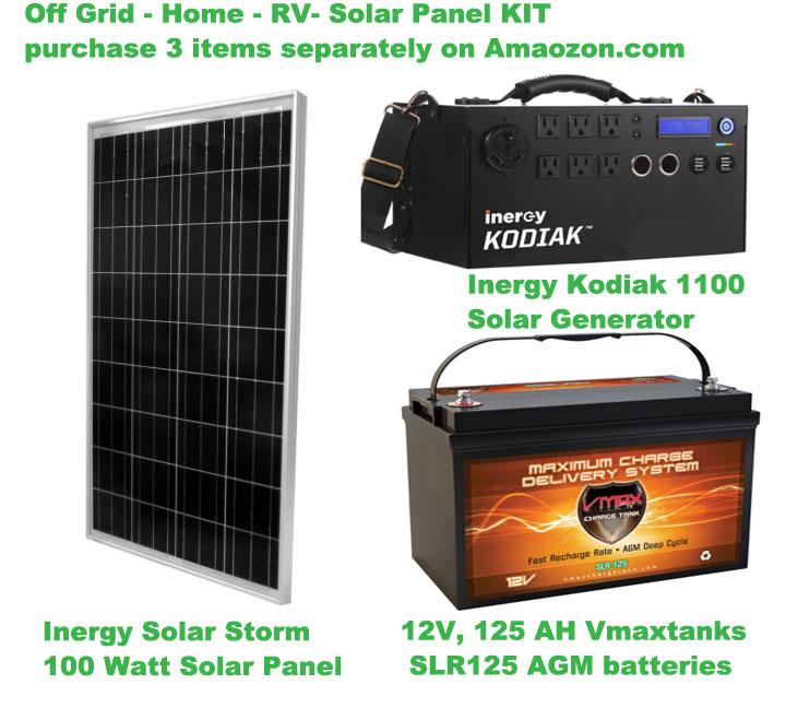 Renogy 100 Watts 12 Volts Monocrystalline Solar RV Kit