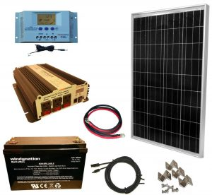 RV Solar Panel Kit Windy Nation 100w