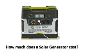 How much does a Solar Generator cost?