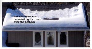 Roof melt snow