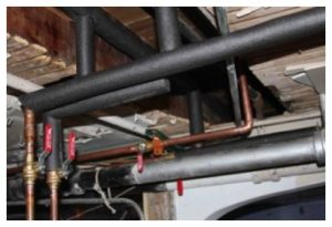 Pipes to be insulated