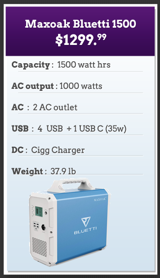 Bluetti 1500 Solar Powered Generator