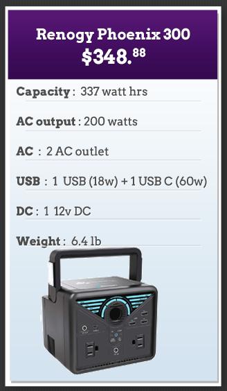 Renogy 300 RV Solar Generator