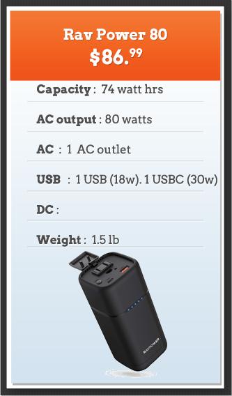 Rav Power 80 Portable Power Supply
