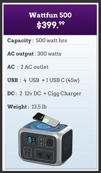 Wattfun 500 Solar Powered Generator
