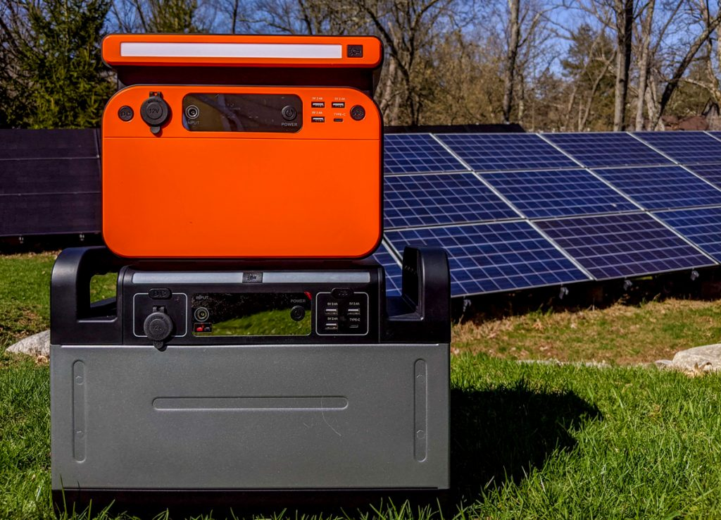 Ampericon 1200 watt Solar Generator with 500 watt on top